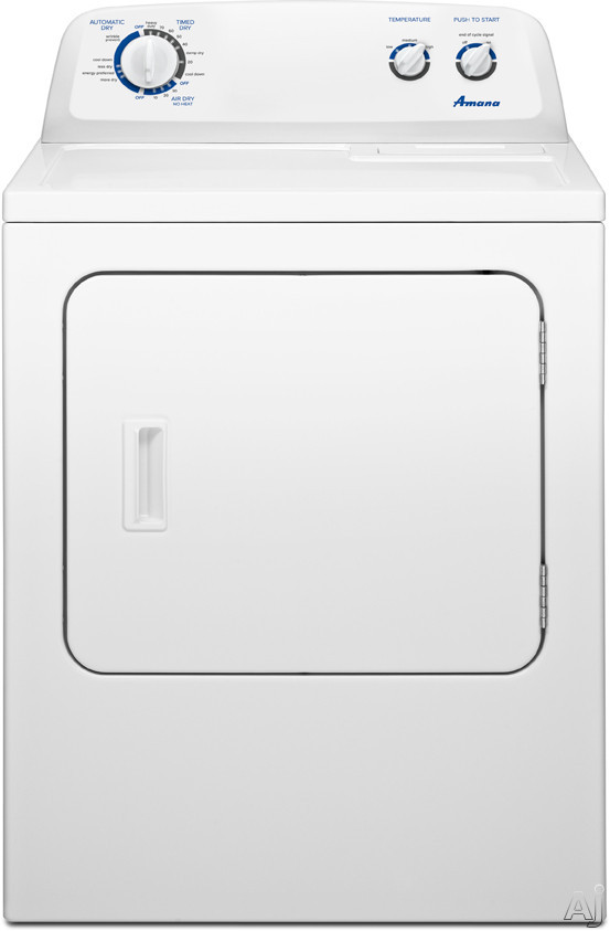"Amana NED4700YQ 29"" Electric Dryer with 7.0 cu. ft. Capacity, 12 Dry Cycles, Wrinkle Prevent Option, U.S. & Canada NED4700YQ"