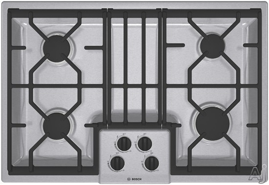 "Bosch 300 Series NGM3054UC 30"" Gas Cooktop with 4 Sealed Burners Including 14000 BTU Power Burner, U.S. & Canada NGM3054UC"