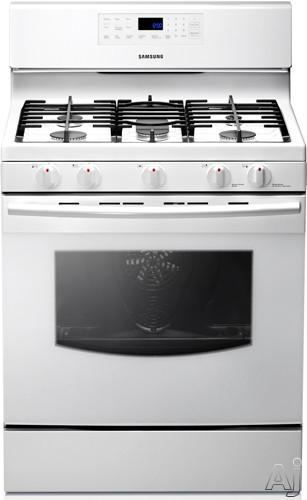 "Samsung NX583G0VBWW 30"" Freestanding Gas Range with 5 Sealed Burners, 5.8 cu. ft. Convection Oven, U.S. & Canada NX583G0VBWW"