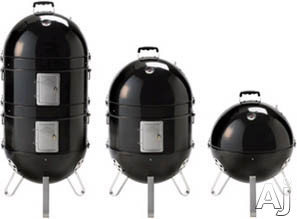 Napoleon Apollo Series AS300K 3-in-1 Charcoal Smoker with Large Capacity Charcoal Basket, ACCU-PROBE Temperature Gauge, Large Capacity Water Pan and 1 Top/3 Base Air Vents