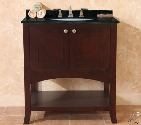 Empire Industries Open Empress Collection OE30SC Contemporary Vanity with 2 Self-Closing Doors, Satin Nickel Knobs and Spice Cherry Finish (Countertops Not Included): 30 Inch Vanity