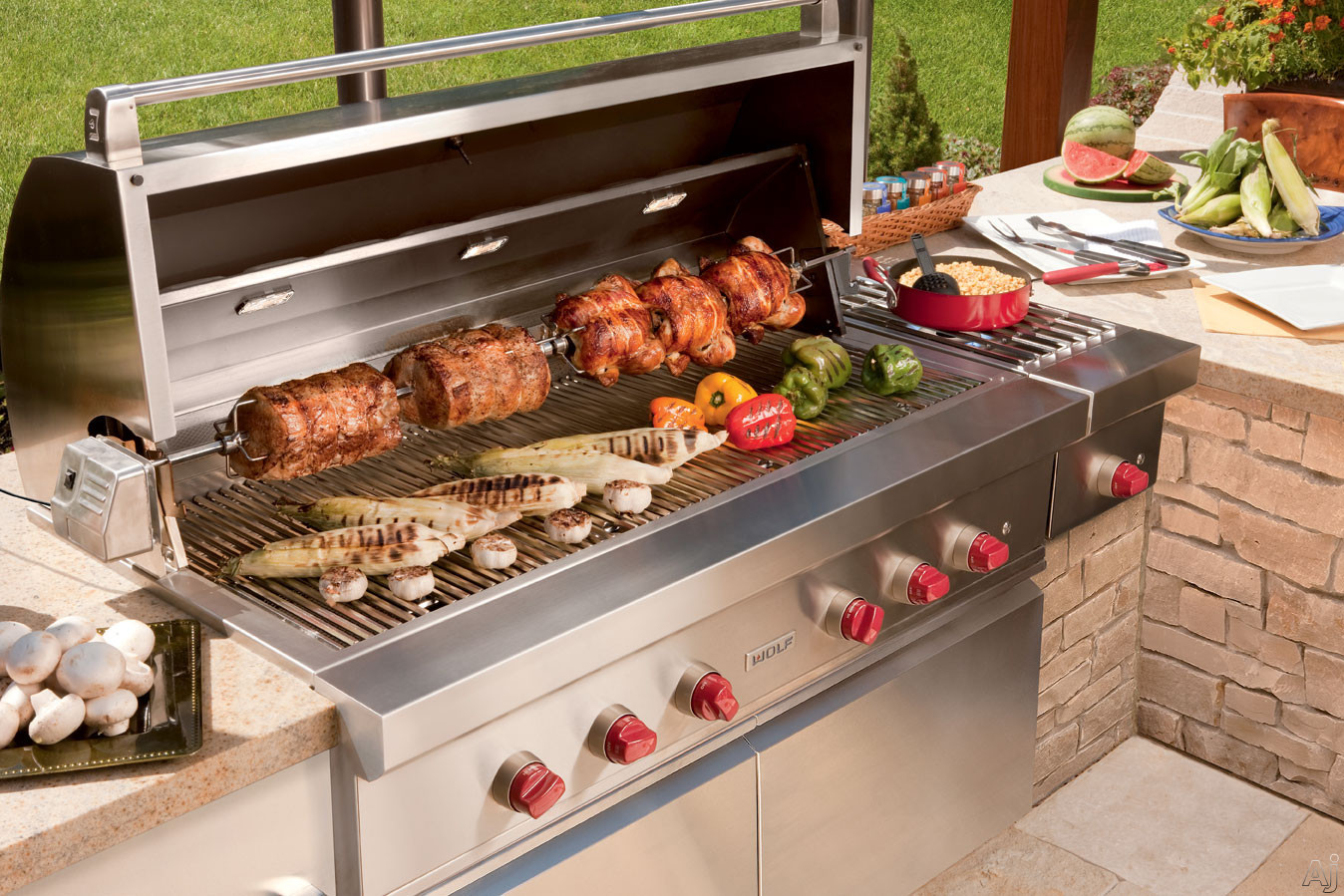 "Wolf OG54X 54"" Built-in Gas Grill With 25,500 BTU Burners"