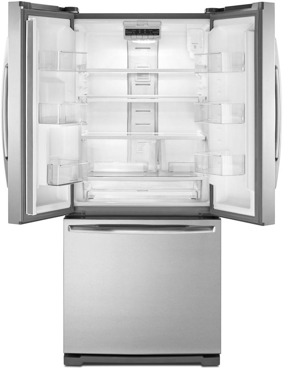 Maytag mfw2055yem 19 6 cu ft french door refrigerator for 19 cu ft french door refrigerator