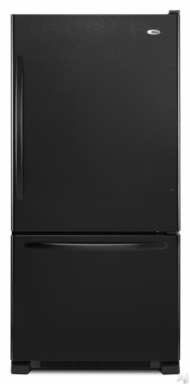 Amana ABB2224BRB 219 cu ft Bottom Freezer Refrigerator with Spillsaver Glass Shelves Adjustable Door Bins Easyfreezer Pull out Drawer and ENERGY STAR Qualified Black