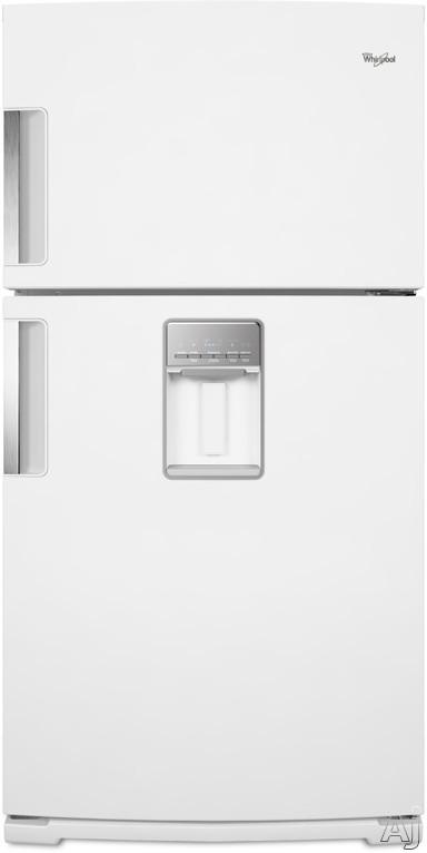 Whirlpool Wrt771reyw 21 1 Cu Ft Top Freezer Refrigerator With Spillmizer Glass Shelves