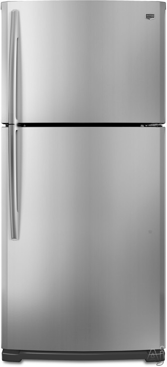 Maytag M9BXXGMYM 18.9 cu. ft. Top-Freezer Refrigerator with SpillMizer Glass Shelves, U.S. & Canada M9BXXGMYM