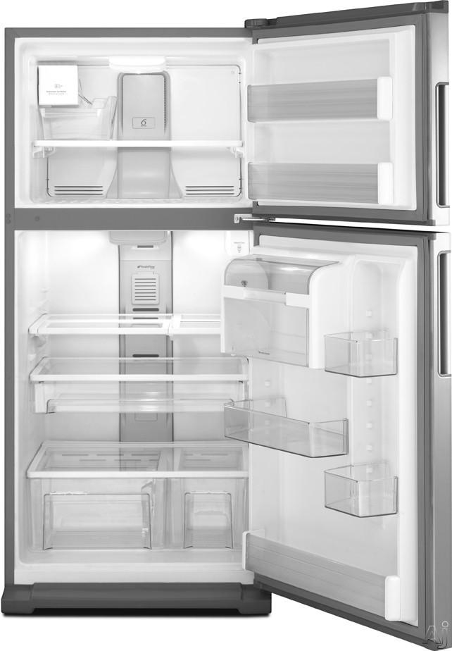Whirlpool Wrt771reyb 21 1 Cu Ft Top Freezer Refrigerator With Spillmizer Glass Shelves