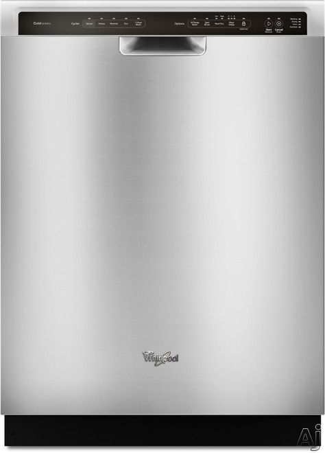 Whirlpool Gold WDF750SAY Full Console Dishwasher with 15-Place Settings, 5 Wash Cycles, Sensor Cycle, 6 Options, Sani Rinse Option, Stainless Steel Interior and