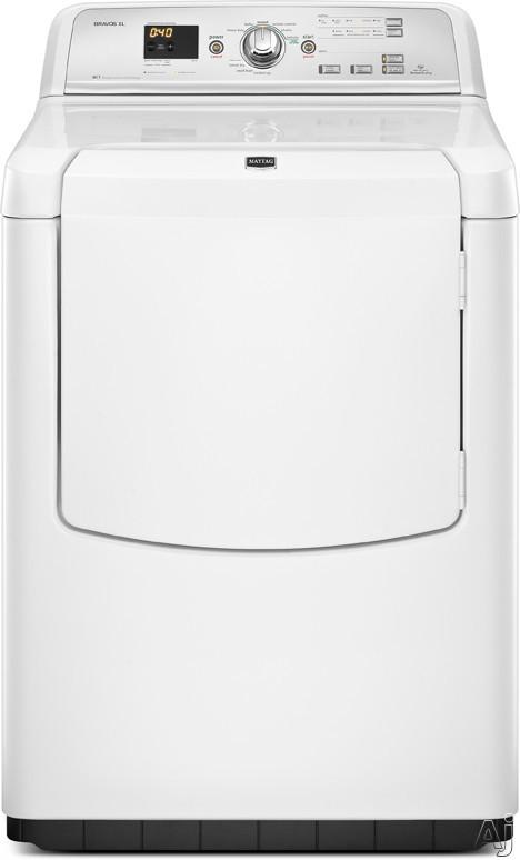 """Maytag Bravos Series MGDB750YW 29"""" Gas Dryer with 7.3 cu. ft. Capacity, 9 Drying Cycles, 5, U.S. & Canada MGDB750YW"""