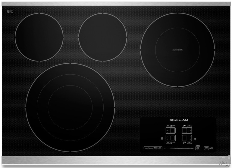 Kitchenaid Kecc607bss 30 Quot Smoothtop Electric Cooktop With