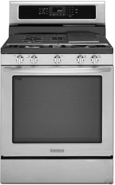 "KitchenAid Architect C Series II KGRS303B 30"" Freestanding Gas Range with 5 Burners, 5.8 cu. ft., U.S. & Canada KGRS303B"