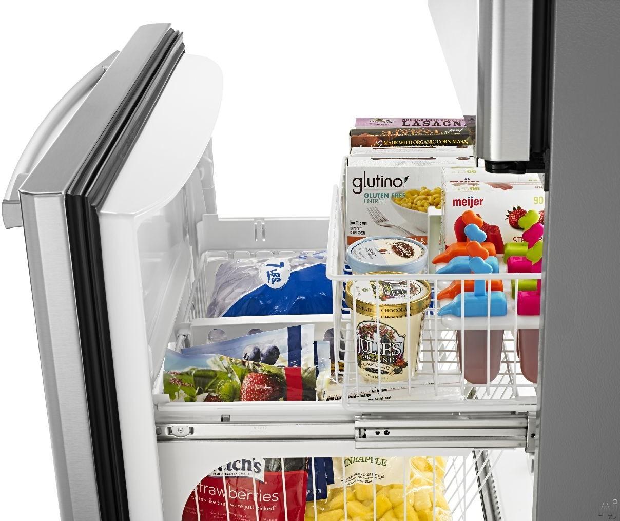 Amana Abb2224br 21 9 Cu Ft Bottom Freezer Refrigerator