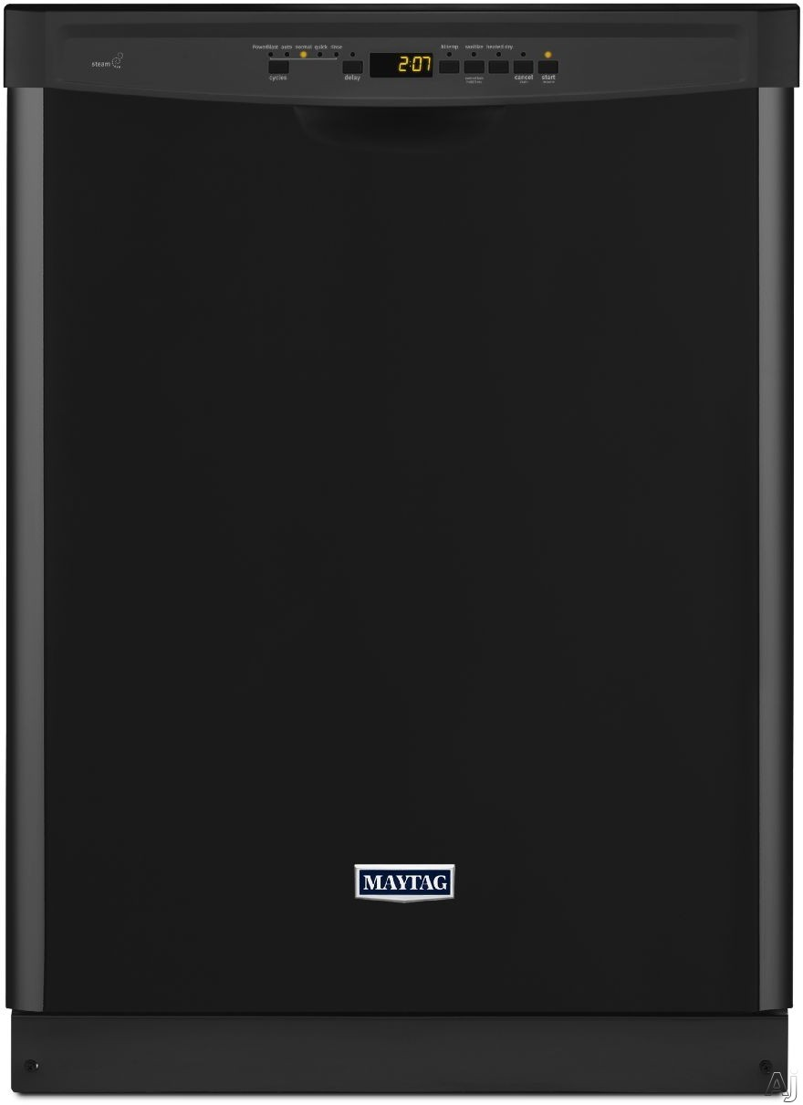 Maytag MDB4949SDE Full Console Dishwasher with PowerBlastâ ¢ Cycle, Steam Sanitize, 5 Wash Cycles, 13-Place Setting Capacity, 5 Options, Silence Rating of 50 dBAand Energy Star ® Rated: Black