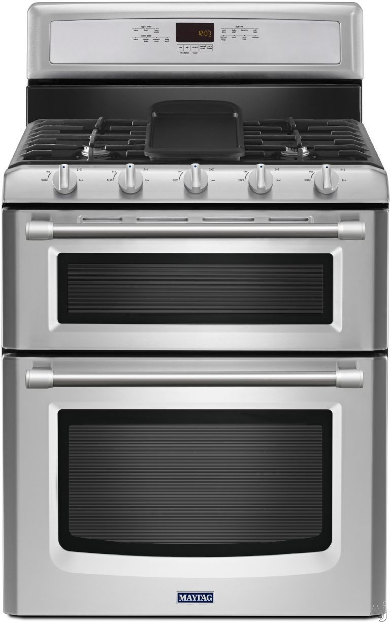 Double Oven Range ~ Maytag mgt ds inch freestanding double oven gas