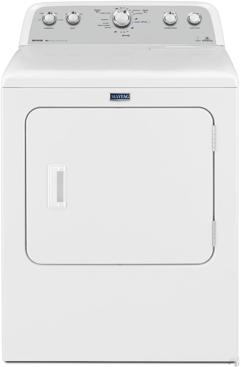Maytag Heritage Series MEDX6STBW 29 Inch 7.0 cu. ft. Electric Dryer with 13 Drying Cycles, 3 Temperature Settings, Steam, Sanitize Cycle, Wrinkle Shield Option and IntelliDry Sensor