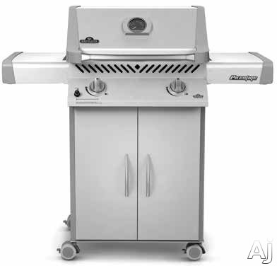 """click for Full Info on this Napoleon Prestige I Series P308PSS7 51"""" Freestanding Gas Grill with 483 sq in Cooking Area  29 000 Total BTU  2 Stainless Steel Main Burners  Cast Iron Cooking Grids and Folding Side Shelves: Liquid Propane"""