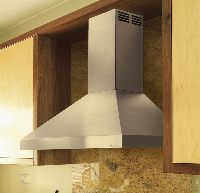 Vent A Hood ARS Series PDAH14K30SS Wall Mount Chimney Hood with 250 CFM Internal Blower Centrifugal Grease Extractor Duct Free Ventilation and Halogen Lights 30 inch Stainless Steel