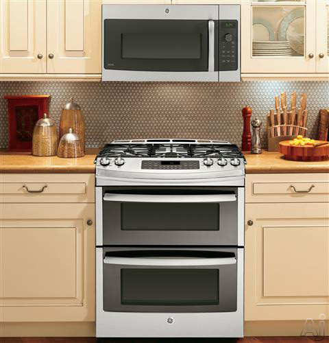 Ge Pgs950sefss 30 Quot Slide In Double Oven Gas Range With 5