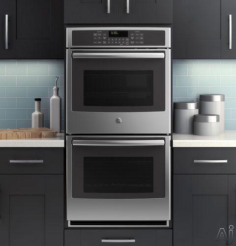 Ge Pk7500sfss 27 Quot Double Electric Wall Oven With 4 3 Cu