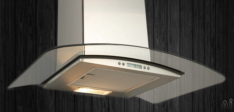Elica EPT436SS Wall Mounted Chimney Hood with 400 CFM, 3 Blower Speeds, 5.9 Sones, LCD Display, U.S. & Canada EPT436SS