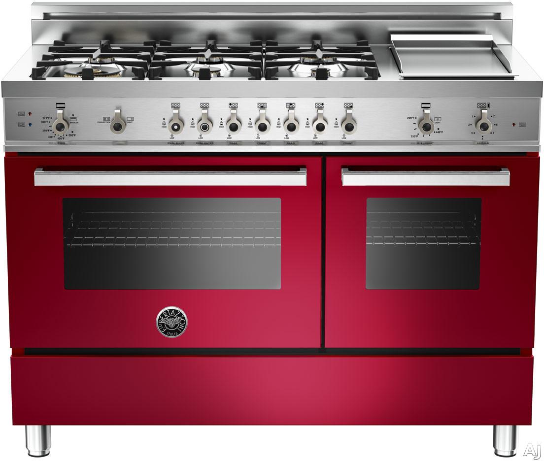 Bertazzoni Professional Series Pro486ggasvi 48 Inch Pro Style Gas Range With 6 Sealed Br Burners
