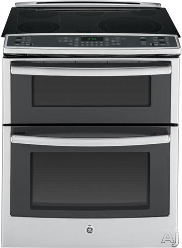 GE Profile PS950 30 Inch Slide-in Double Oven Electric Range with True Convection, Meat Probe, Power Boil, Fast Preheat, 6.6 cu. ft. Capacity, 5 Smoothtop Elements, GE Fits! Guarantee, Star-K Certified Sabbath Mode and ADA Compliant