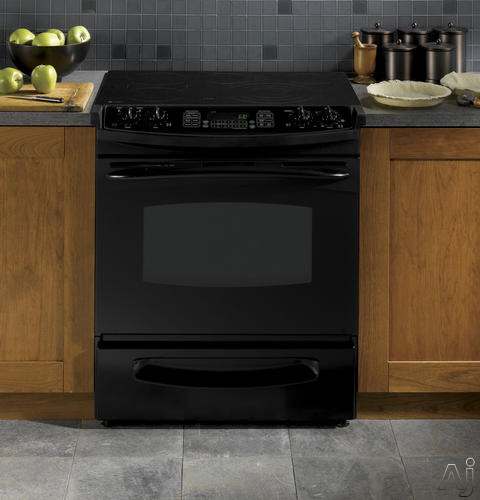 "GE Profile PS968DPBB 30"" Slide-in Electric Range with 4.1 cu. ft. PreciseAir Convection Oven, 4, U.S. & Canada PS968DPBB"