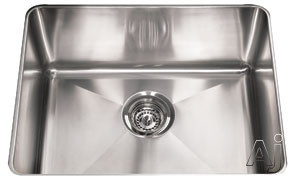 Franke Professional Series PSX1102110 23 Inch Undermount Single Bowl Stainless Steel Sink with Polished Finish, 10 Inch Bowl Depth and 16-Gauge Stainless Steel