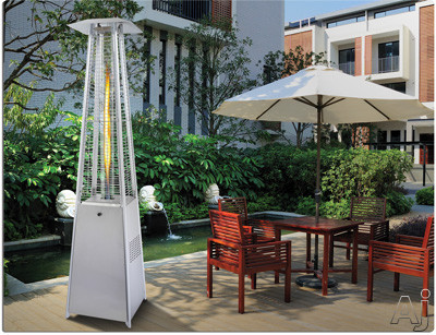 Napoleon Bellagio Series PTH31GTSSP 84 Inch Tall Commercial Outdoor Patio Torch with 31,000 BTU, Stainless Steel Hardware and Safeguard Screen