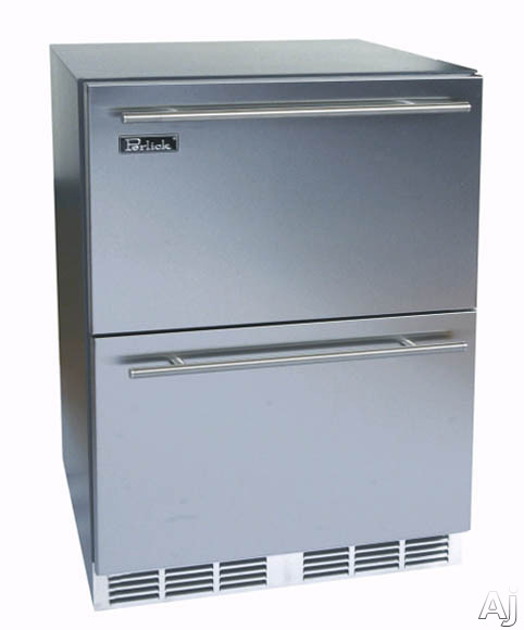24-inch Stainless Refrigerator w/Stainless Steel Drawers