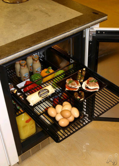 """Perlick Signature Series HP24RO4R 24"""" Stainless Refrigerator with Integrated Wood Overlay Glass, U.S. & Canada HP24RO4R"""