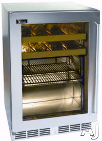 "Perlick Signature Series HP24BS3R 24"" Stainless Beverage Center with Stainless Steel Glass Door, 5.3, U.S. & Canada HP24BS3R"