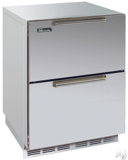 24-inch Stainless Freezer w/ Stainless Steel Drawers