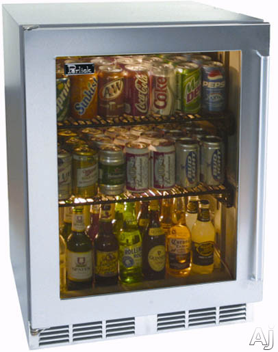 24-inch Stainless Refrigerator w/ Stainless Glass Door