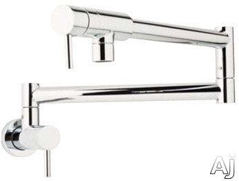 "Rohl Modern Architectural Series QL66LPN Double Lever Wall Mount Pot Filler Faucet with 23"" Reach, U.S. & Canada QL66LPN"