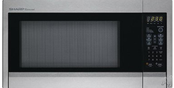 Sharp R409Y 1.3 cu. ft. Countertop Microwave Oven with 1,000 Cooking Watts, 11 Power Levels, Popcorn, U.S. & Canada R409Y