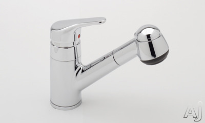Rohl de Lux Collection R3830SAPC Single Lever Pull-Out Bar Faucet with Short Handspray, Stainless Steel Coil, Anti-Scald Device, Soft Touch Elastomer Spray Face and Ceramic Disc Cartridge: Polished Chrome