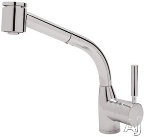 Rohl Modern Lux Series R7923 Single Lever Pull-Out Kitchen Faucet with Stainless Steel Coil, Anti-Scald Device, Soft Touch Elastomer Spray Face and Ceramic Disc Cartridge