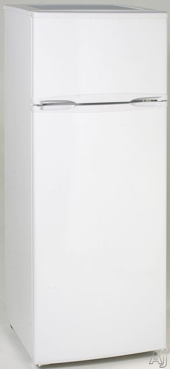 Avanti RA7306WT 7.4 cu. ft. Counter-Depth Top-Freezer Refrigerator with Adjustable Glass Shelves, Adjustable Door Bins, 2-Litter Bottle Rack, Interior Light and Energy Star Rated: White