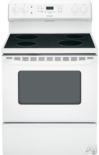 Hotpoint RB780DH 30 Inch Freestanding Electric Range with 5.0 cu. ft. Capacity Oven, 4 Radiant Elements, Self Clean, Ceramic Glass Cooktop, View Window and Removable Storage Drawer RB780DH