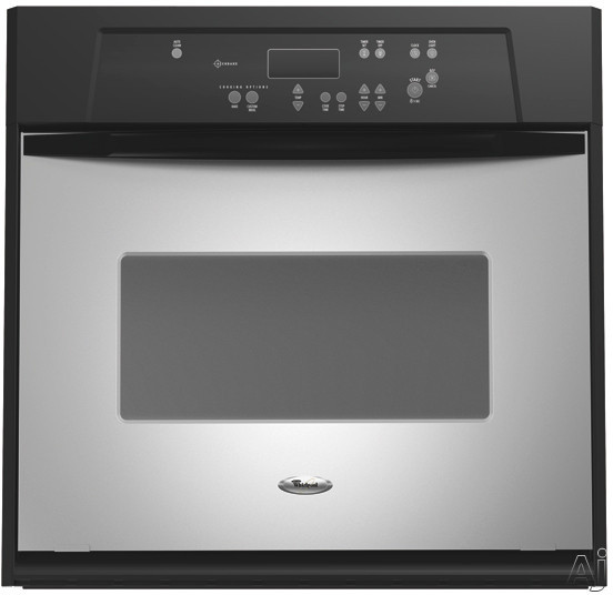 "Whirlpool RBS245PRS 24"" Single Electric Wall Oven with Large Oven Window & AccuBake System:, U.S. & Canada RBS245PRS"
