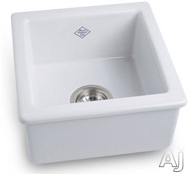 Rohl Shaws Original RC1515 15 Inch Undermount Fireclay Kitchen/Prep Sink with 6-1/2 Inch Bowl Depth and Acid/Alkali Resistant Glazed Surfaces