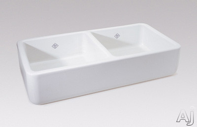 """Rohl Shaws Original RC3719 36"""" Apron Front Double Bowl Fireclay Kitchen Sink with 9"""" Bowl Depth and, U.S. & Canada RC3719"""