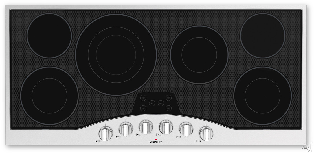 Viking Electric Cooktop ~ Viking rdecu bsb quot electric cooktop with quickcook