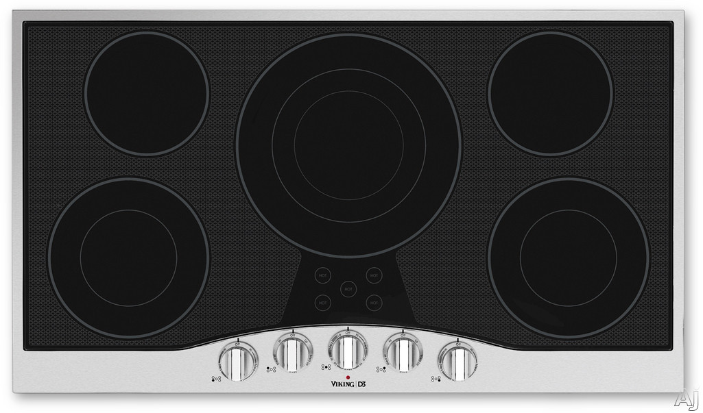 Viking Rdecu2665bsb 36 Electric Cooktop With 5 Quickcook
