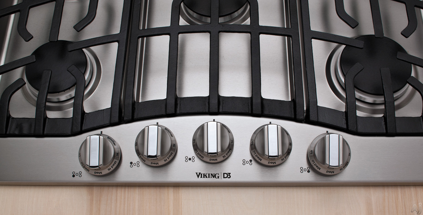 Viking Rdgsu2605bbk 36 Gas Cooktop With 5 Permanently