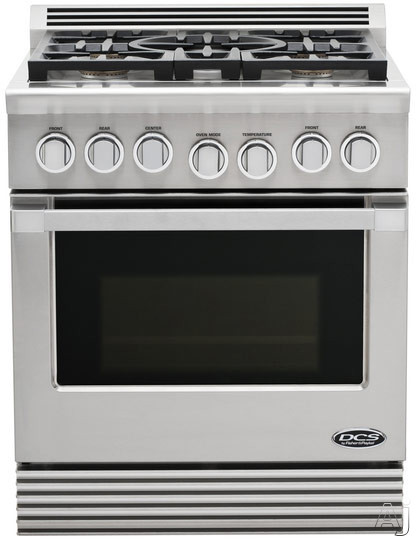 """DCS Professional Series RGU305N 30"""" Pro-Style Gas Range with 5 Dual Flow Sealed Burners, 4.6 cu. ft., U.S. & Canada RGU305N"""
