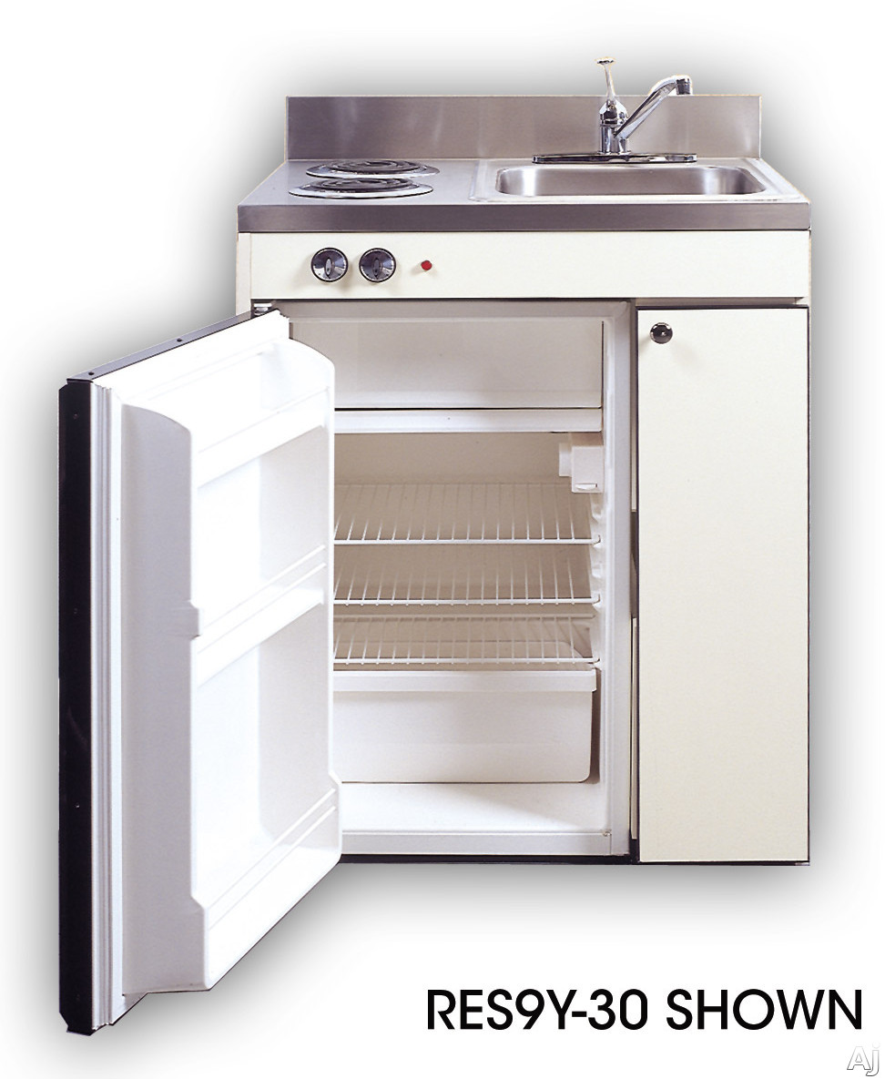 Acme Efficiency Kitchenettes RES Compact Kitchen with Sink Compact Refrigerator and Optional Electric Burners