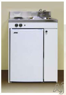 Acme Efficiency Kitchenettes RES9Y30 Compact Kitchen with Sink Compact Refrigerator and Optional Electric Burners 30 Inch Width