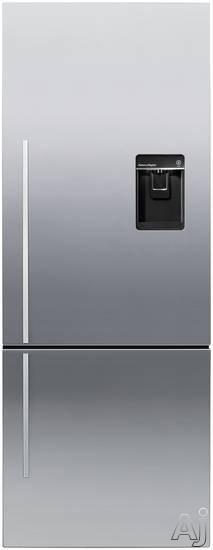 Fisher & Paykel Active Smart RF135BDRUX4 13.5 cu. ft. Counter-Depth Bottom-Freezer Refrigerator with, U.S. & Canada RF135BDRUX4